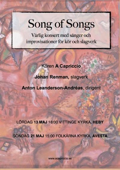 Song of Songs - Vårlig konsert med sånger och improvisationer för kör och slagverk