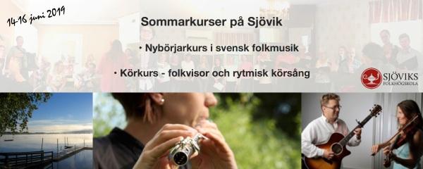 Sommarkurser på Sjövik 2019
