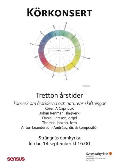 Tretton årstider Strängnäs, affisch
