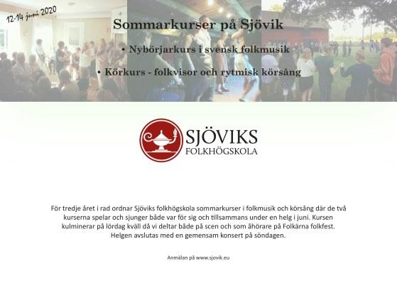 Sommarkurser 12-14 juni 2020